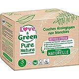 Love And Green - Pañales para bebé, talla 3, 4 – 9 kg, natural hipoallergéni