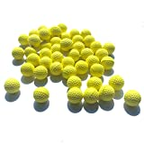 50 Rounds Foam Bullet Balls Replacement Refill Pack for Kids Toy Guns (yellow)