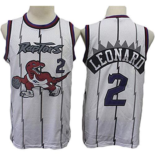 QQA Camiseta Baloncesto para Hombre Retro Jugador Baloncesto Jersey Bordado Transpirable y Resistente al Desgaste Camiseta para Fan Kawhi Leonard #2 Raptors,M