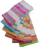 Tortilla Warmer Cloth by Jacq & Jürgen - White Inca Pattern - 100% Cotton
