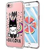 OKZone Coque iPhone Se (2020) [Film de Protection écran HD], Ultra Mince Motif de Créatif Claires TPU Souple Coque, Transparent Housse Etui pour Apple iPhone Se (2020) 4,7 Pouces (Batman)