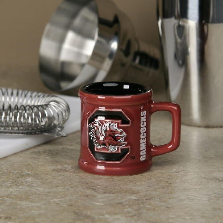 South Carolina Gamecocks Garnet 2 oz. Sculpted Team Shot Mug