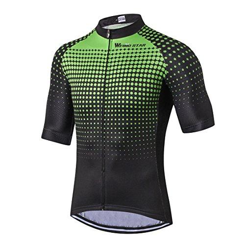 Radfahren Jersey Männer Bike Jersey Rennrad Sommer Berg MTB Fahrrad Kleidung Kurzarm T-Shirts Outdoor Sports Top atmungsaktiv Grün Größe XXL