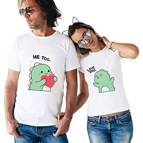 Dinosaurio Lindo Camisetas para Parejas,...