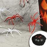 com-four® 32-teiliges Halloween Dekoset mit 100g Spinnennetz, Spinnen, Bechern, Teller, Servietten und Tischtuch für Halloween, Fasching und Mottopartys (032-teiliges - Halloweenset) - 7