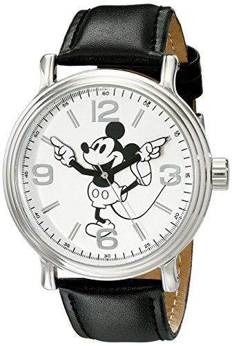 Disney W001853 Mickey Mouse - Reloj de pulsera para hombre, color plateado