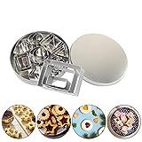 Stampini per biscotti Formine biscotti 24 taglierine di forme geometriche in acciaio inox-8 forme / In 3 misure ciascuna /Tagliabiscotti cutter