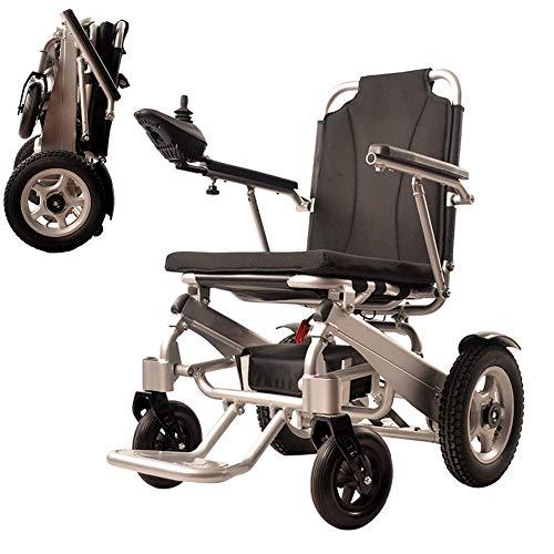 LLLKKK Silla de ruedas plegable, portátil, ligera, de doble función, plegable, con potencia eléctrica o uso como silla de ruedas manual jh