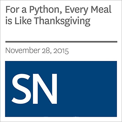 For a Python, Every Meal is Like Thanksgiving audiobook cover art