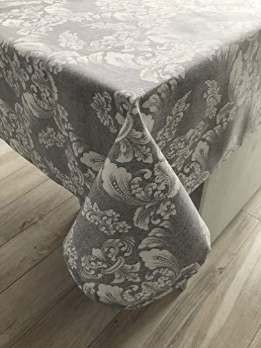 1KDreams tovaglia Rettangolare da tavola. Elegante Moderna. Fantasia con arabeschi e Foglie. (130x180 cm)