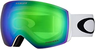Oakley Flight Deck XM Snow Goggle (Matte White Frame/Prizm Jade Iridium Lens) with Large Goggle Soft Case