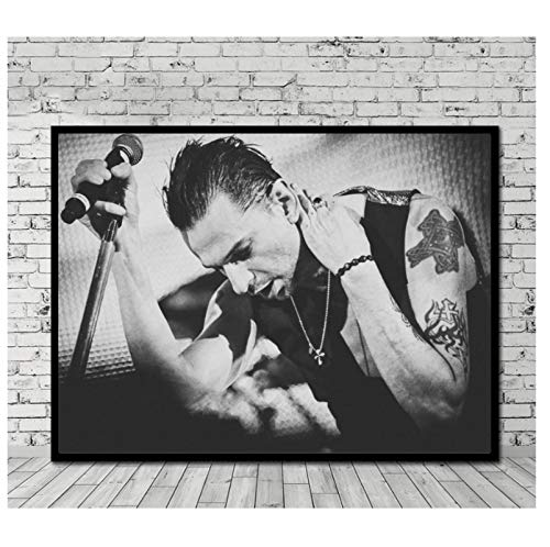 DNJKSA Dave Gahan Star Art Canvas Painting Poster Print en Lienzo Art Poster Pictures   Living Room Pictures Decoración para el hogar (60x90cm -24x36 IN Sin Marco