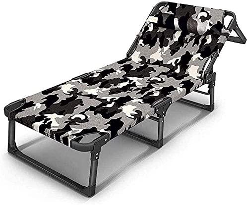 PAKUES-QO Sillón reclinable Ligero reclinable, Plegable Sun Garden OutdoorPatio Guested Lounger Asiento reclinable Silla (Color: A)