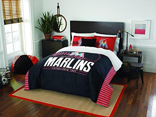 MLB Miami Marlins Full Comforter and Sham Set, Full/Queen