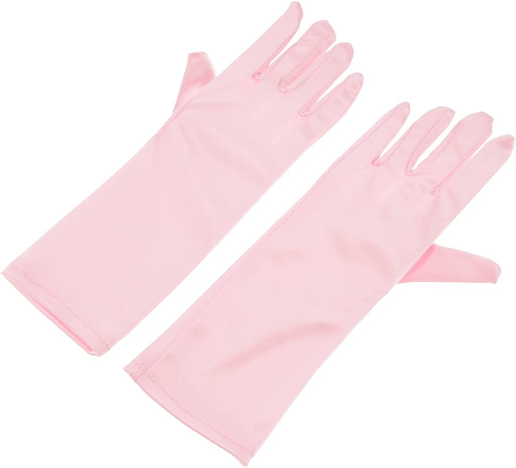 Colaxi Kids Formal Stretch Nylon Long Finger Gloves for Girl Children Party