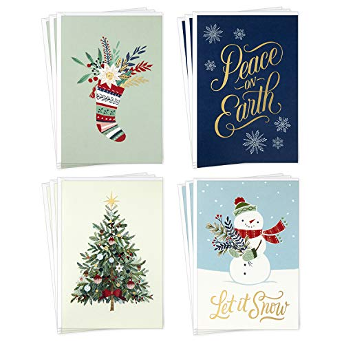 Hallmark Boxed Christmas Cards Assortment, Let it Snow (4 Designs, 12 Cards and Envelopes) (5CZE1029)