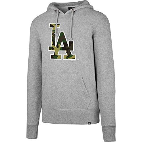 47 Brand CAMOFILL Hoody - MLB Los Angeles Dodgers grau - M