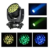V-Show AURA Zoom Beam Wash Led Moving Head Light - 19x15W RGBW 4in1 Min Led With Backlight RGB Effect,Zoom 10-60° and Dmx Control Sound Active Dj Disco Nightclub Party Church