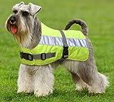 Petlife Warnweste für Hunde, mit warmem Thermofutter, 40,6cm, fluoreszierendes Gelb