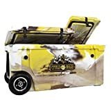 WYLD 75 Quart Dual-Compartment Insulated (Wyoming Yellow) Cooler w/Wheels & Tap Kit! Aerator Port Kit & Rod Holder Available for Camping Fishing Boating & Tailgating