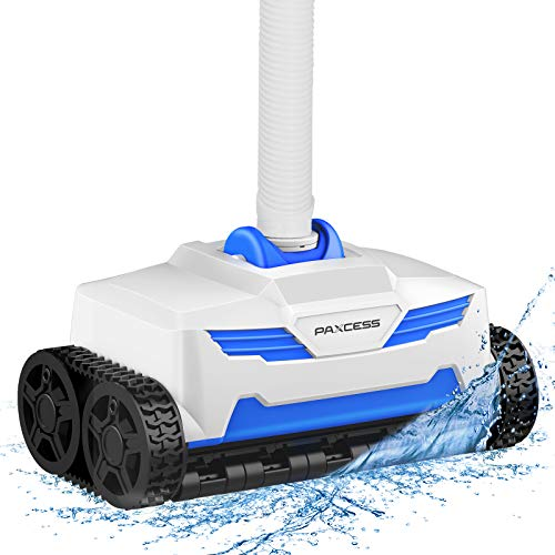 PAXCESS Pool Suction Cleaner Pool Vacuum Cleaner Wall Claiming, 360° Rotate Deep Cleaning,20x19.7 Air-Proof Hoses, 4-Wheel Gear Drive for Above/In Ground Pool with Pump