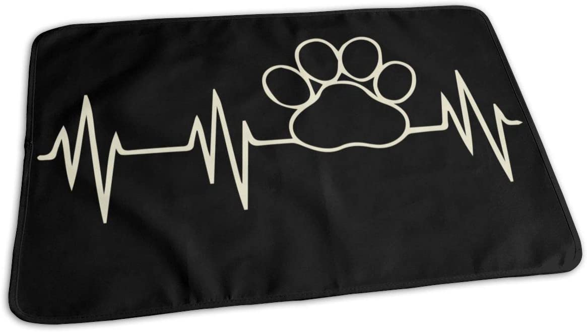 store UAJAR Paw Print Heartbeat Baby Reusable Cover Pad Porta Branded goods Changing