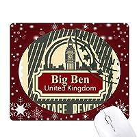 ロンドンイギリスの英国郵便料金収入 オフィス用雪ゴムマウスパッド