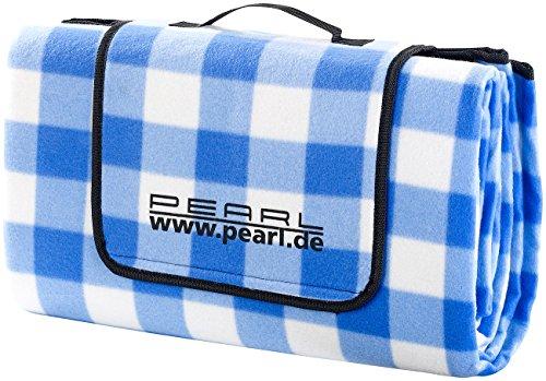 PEARL Picknickdecken: Fleece-Picknick-Decke mit wasserabweisender Unterseite, 200 x 175 cm (Picknickdecke isoliert)