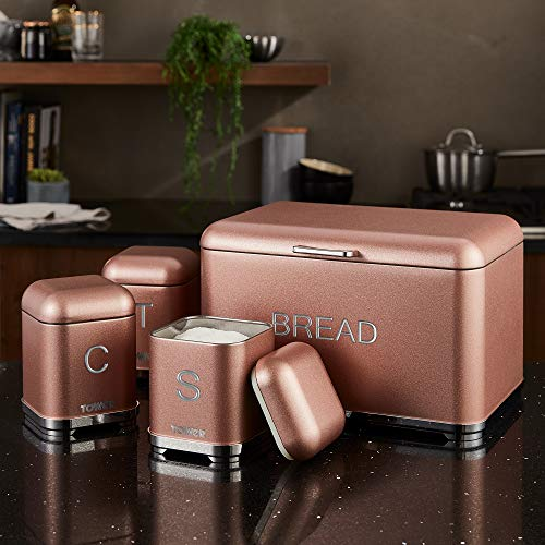 Tower Glitz Set of 3 Storage Canisters - Blush Pink