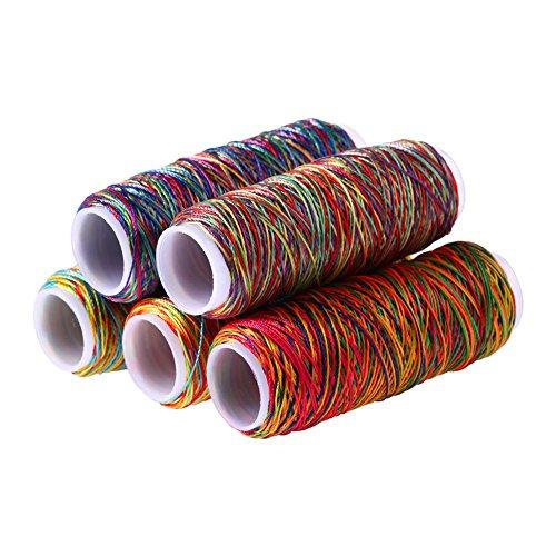 Linha de costura WinnerEco 5 peças 150D de alta resistência cor arco-íris (cor aleatória)