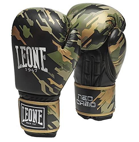 Leone1947 Neo Camo - Guantes de Boxeo, Color Verde Camuflaje, Muay Thai Boxing, Todo el año, Unisex, Color Verde, tamaño 16 Unzen