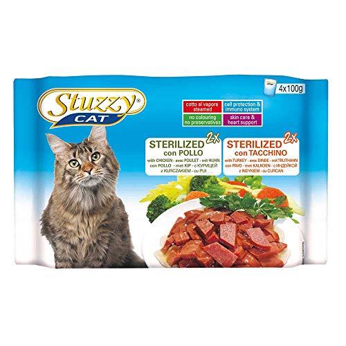 Stuzzy Cat Bocconcini in Salsa Multipack 400 gr. x 10 Buste Sterilized Pollo e Tacchino