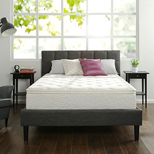 Zinus 12 Inch Euro Box Top Hybrid Green Tea Foam and Spring Mattress, Queen