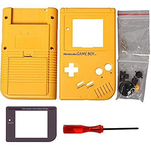 Timorn Ersatzgehäuse Shell Tasche für Gameboy GB Konsole (Gelb)