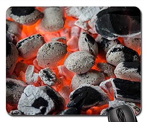 Mauspad Bbq-Grill-Kohle Flame Grill Grill Braai Mausmatte Komfort Office Mat Stabiler Gaming Mauspad Für Voyager Cadeau Office 25X30Cm