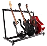 Guitar Stand 9 Holder Multi Guitar Stand Foldable Acoustic Electric Bass Guitar Rack