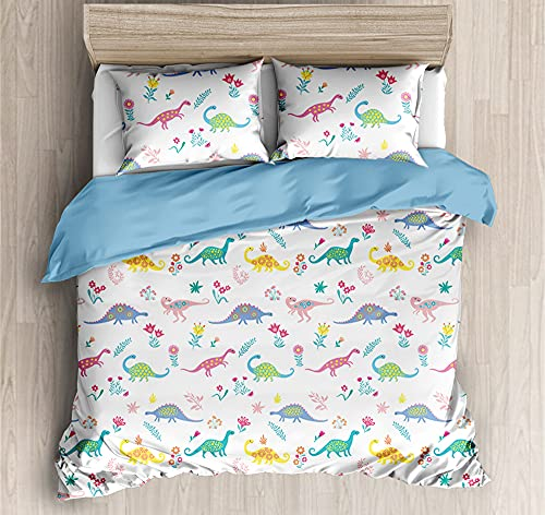 Duvet Cover Bedding,Set Ultra Soft Microfiber Bedding Dinosaur abstract art Printed Quilt Cover with Zipper Closure,200*200cm