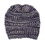 CanaCap Mischfarbe Damen Strickmütze, Damen Ski Mütze Wollmütze, Schwanz der Mütze,...