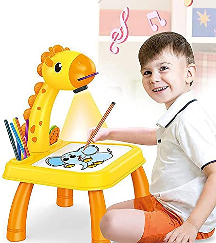 Owill Drawing Projector for Kids,Trace and Draw Projector Toy,Children Drawing Projector Table,Learning Projector Painting Machine Drawing Playset Educational Toy for Boys Girls Age 3+