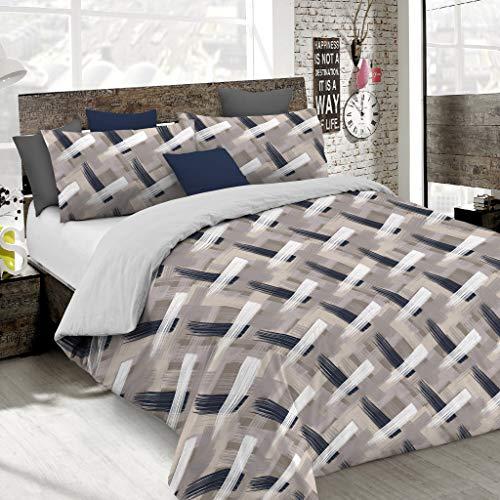 Fantasy Italian Bed Linen Bettbezug, Doppelte, Mikrofaser, Pinselstrichen