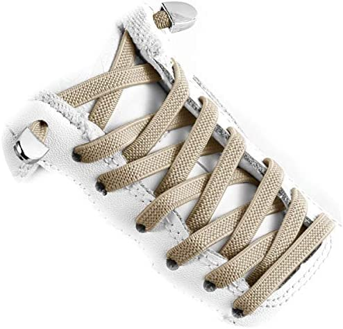 Elastic Shoe Laces Quick to Install No tie Shoelaces for Kids and Adults 3 pairs khaki product image