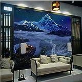 YBHNB 3D Kids Wandmalereien, Custom 3D Mural Dreamland Starry Dream Forest Hintergrund Tapete Wandmauerwerk Wandtafel Tapete Baby Room Blau,450X300CM