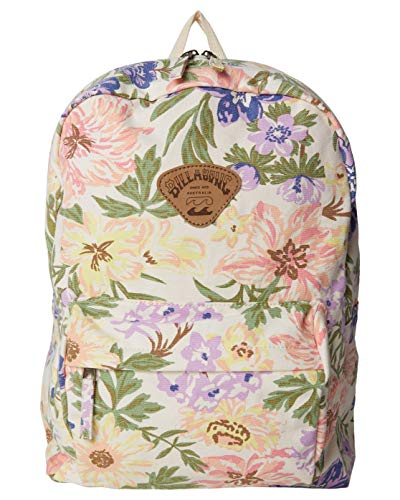 Billabong Women's Schools Out Canvas Backpack, White/Multi, One Size