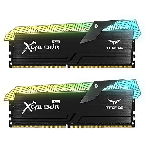 Team Group t-Force Excalibur RGB Special Edition Memoria Gaming DDR416GB (2x 8GB) 3600MHz CL18XMP 2.0Kit de Memoria RGB PC4–28800(Xcalibur, 2* 8GB 3600MHz Black)