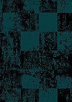 igsticker ポスター ウォールステッカー シール式ステッカー 飾り 1030×1456㎜ B0 写真 フォト 壁 インテリア おしゃれ 剥がせる wall sticker poster 008004 クール チェック レトロ 黒 青