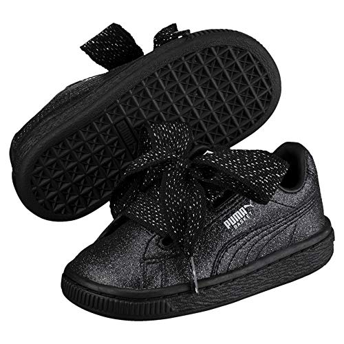 PUMA Basket Heart Holiday Glamour Baby Mädchen Sneaker Puma Black-Puma Silver 4_Infant
