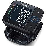 Tensiomètre au poignet Beurer BC 54 connecté Bluetooth, technologie par inflation, indicateur de risque coloré et détection d'arythmie, pour des tours de poignet de 13,5 à 21,5 cm, dispositif médical