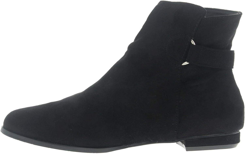 Andres Machado Stiefelette in Übergrößen Schwarz AM4101 ANTE schwarz schwarz schwarz große Damenschuhe  c13978