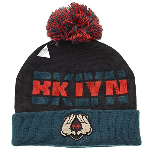 Cayler And Sons - Bonnet Homme BKLYN Pom Pom Beanie - Black/Forest Green/Red