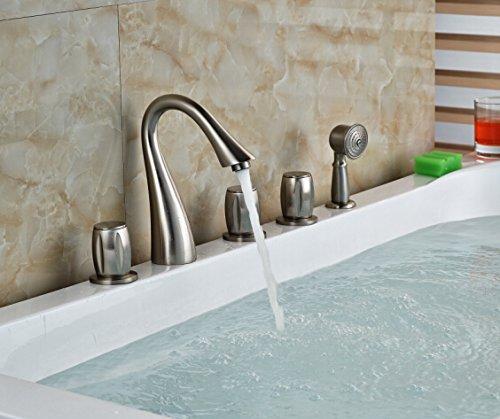 Electroplating Retro Faucet Grifo mezclador de lavabo montado en la cubierta de níquel cepillado, color caqui oscuro